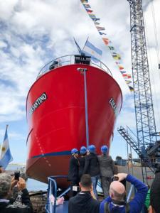 Botadura del buque Luca Santino con tecnología punta de pesca
