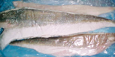 Hubbsi hake fillets skin on