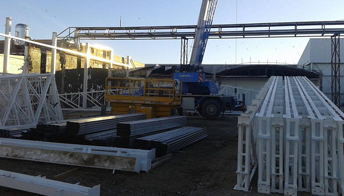 Obras de mejora en Cabo Vírgenes Argentina